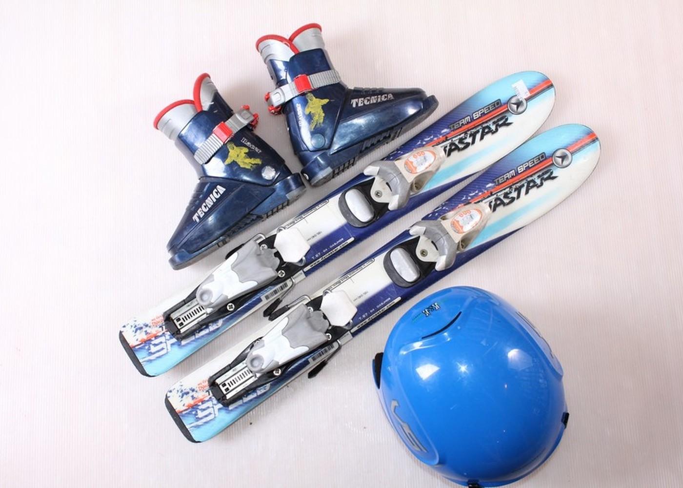 Dětské lyže  Team Speed 70 cm + lyžáky  23EU + helma