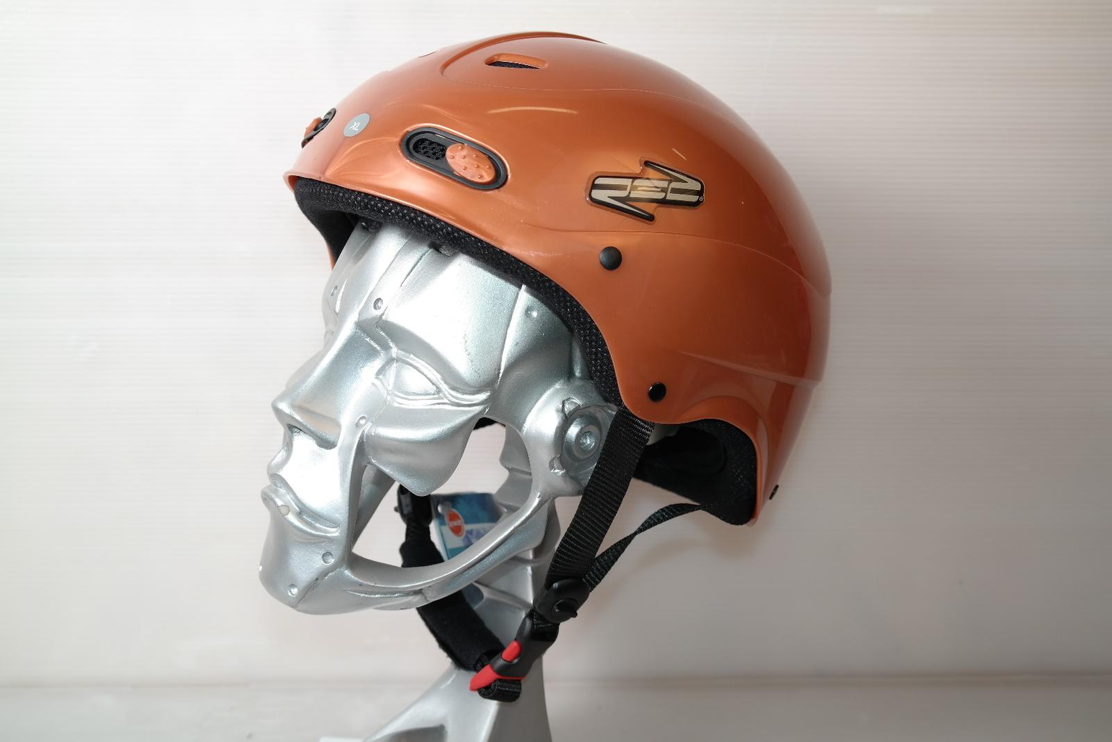 Dámská lyžařská helma RED Decaff Copper - posuvná vel. 60 - 61