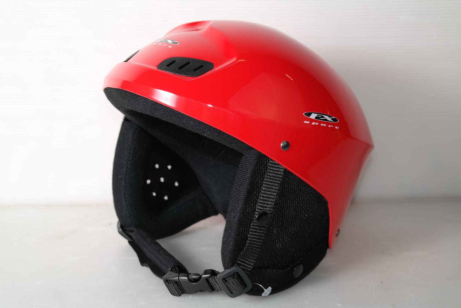 Dámská lyžařská helma DX Sport Red - posuvná vel. 50 - 52