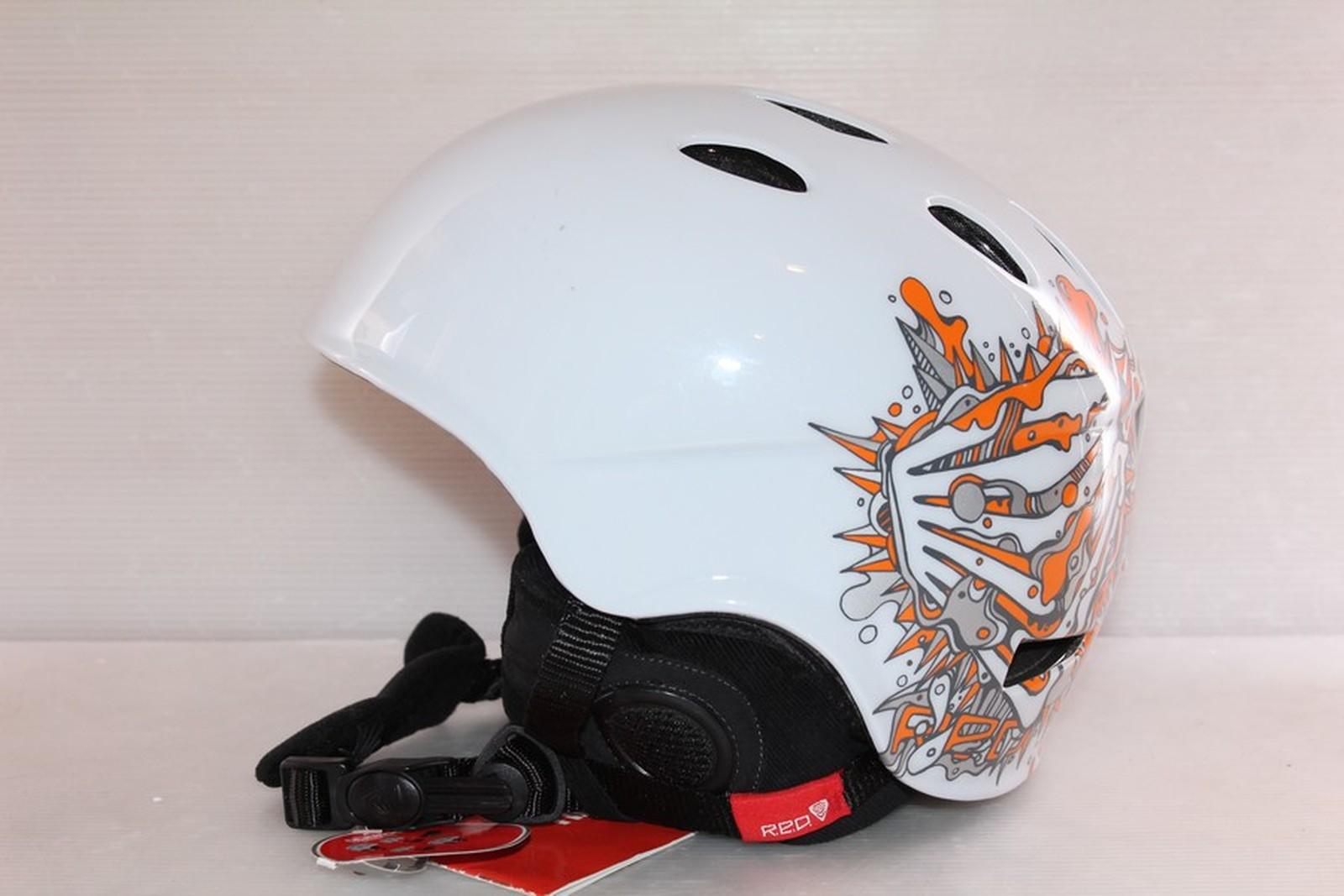 Dámská lyžařská helma RED Hi-fi - posuvná vel. 61 - 63