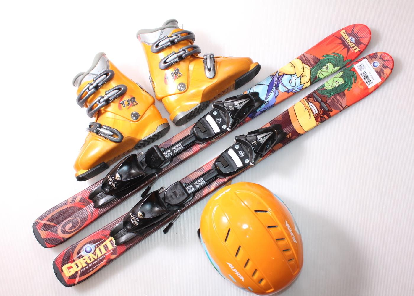 Dětské lyže HEAD GORMITI 97 cm + lyžáky  32EU + helma