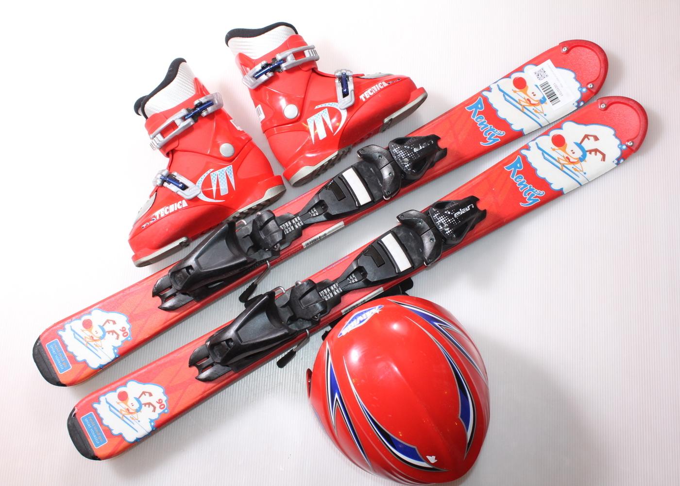 Dětské lyže DYNASTAR LITTLE RENTY 90 cm + lyžáky  29EU + helma