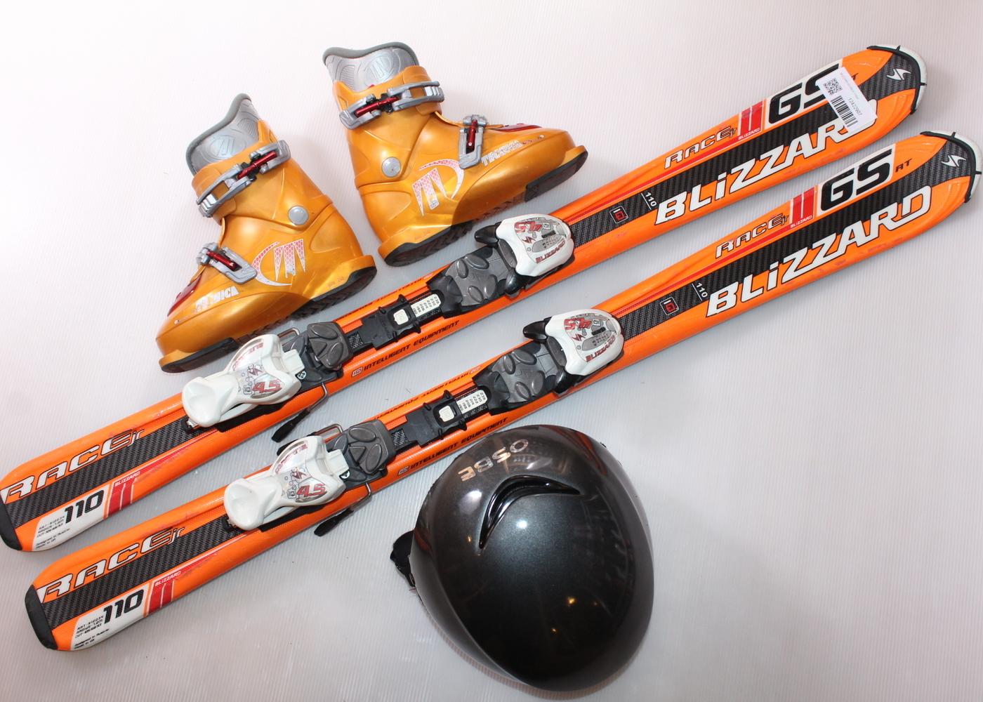 Dětské lyže BLIZZARD GS RACE 110 cm + lyžáky  31EU + helma