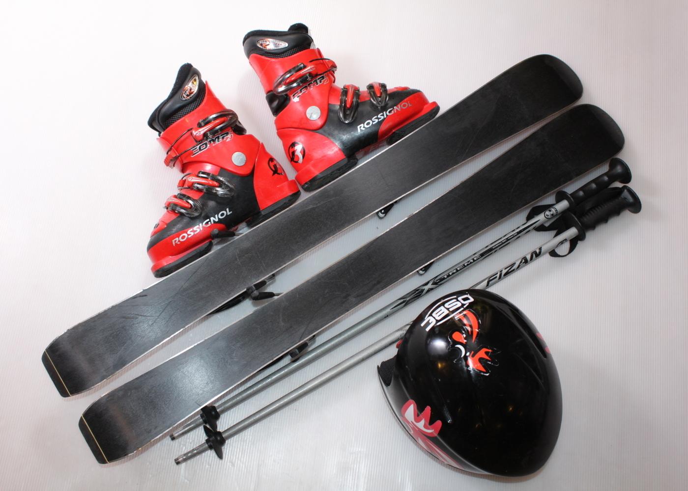 Dětské lyže FISCHER RC4 RACE JR 90 cm + lyžáky  26.5EU + helma