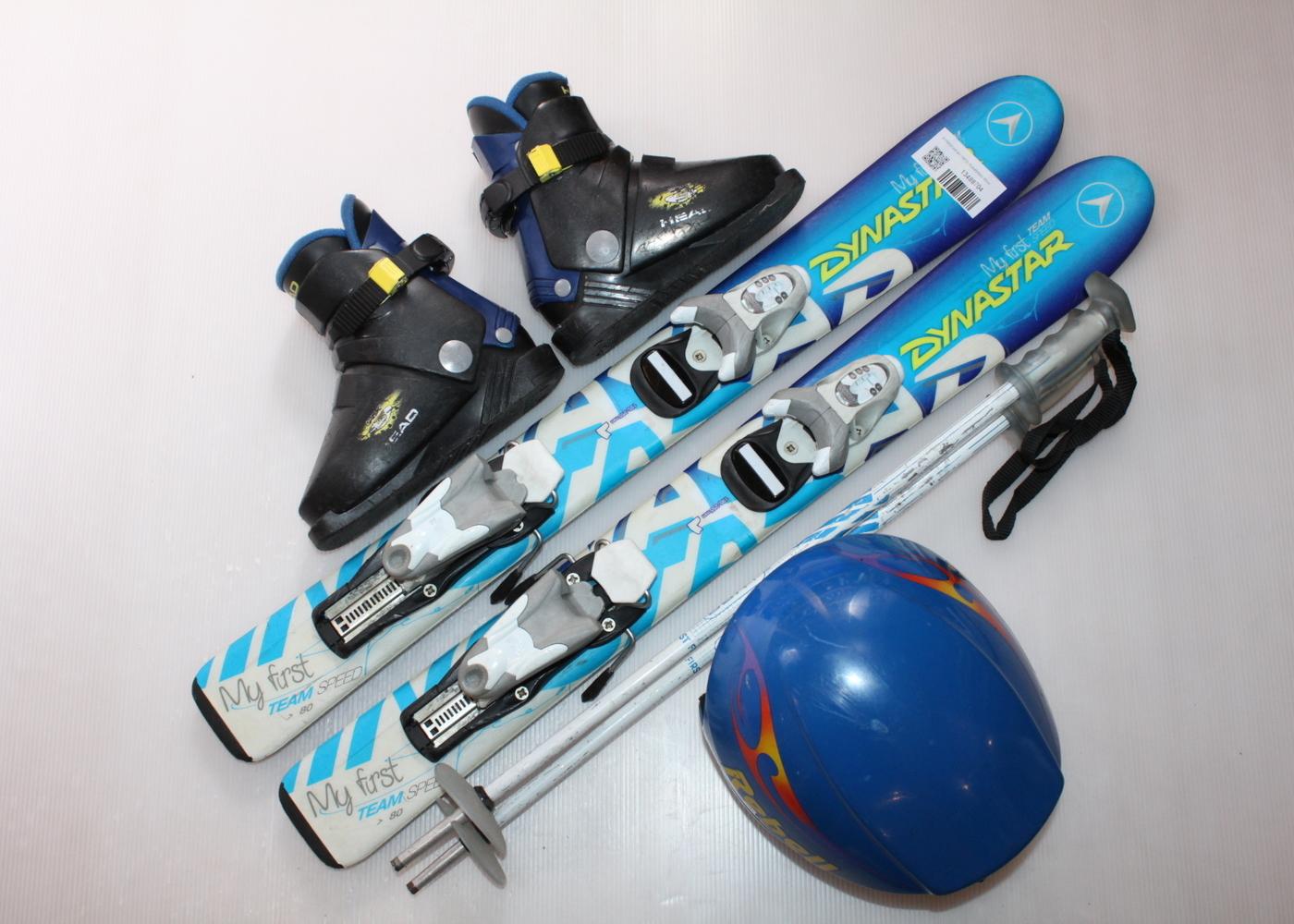 Dětské lyže DYNASTAR MY FIRTS TEAMSPEED 80 cm + lyžáky  28EU + helma
