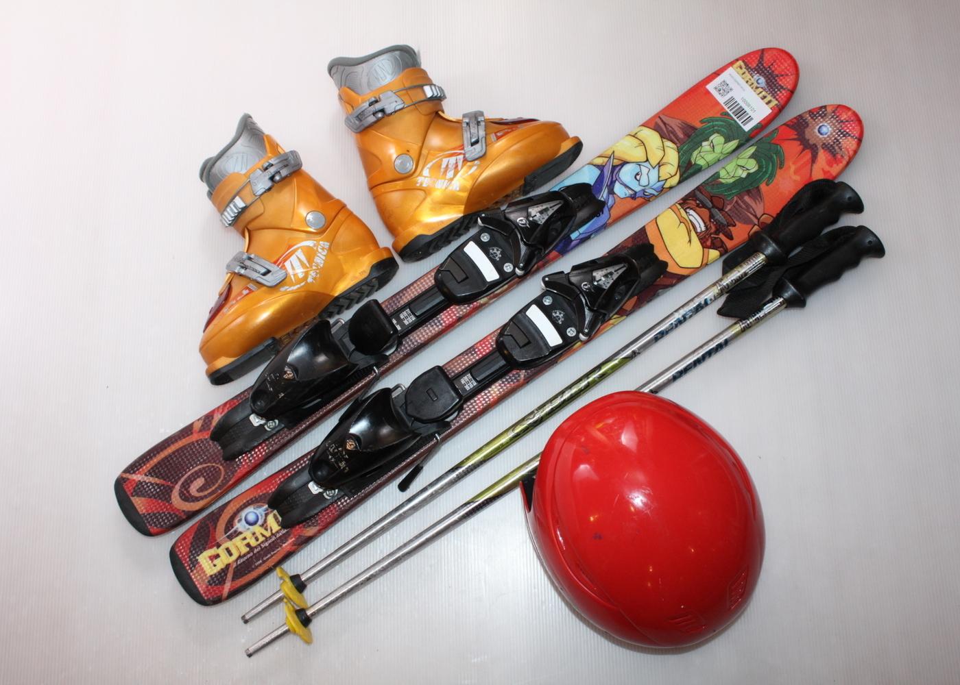 Dětské lyže HEAD GORMITI 87 cm + lyžáky  30EU + helma