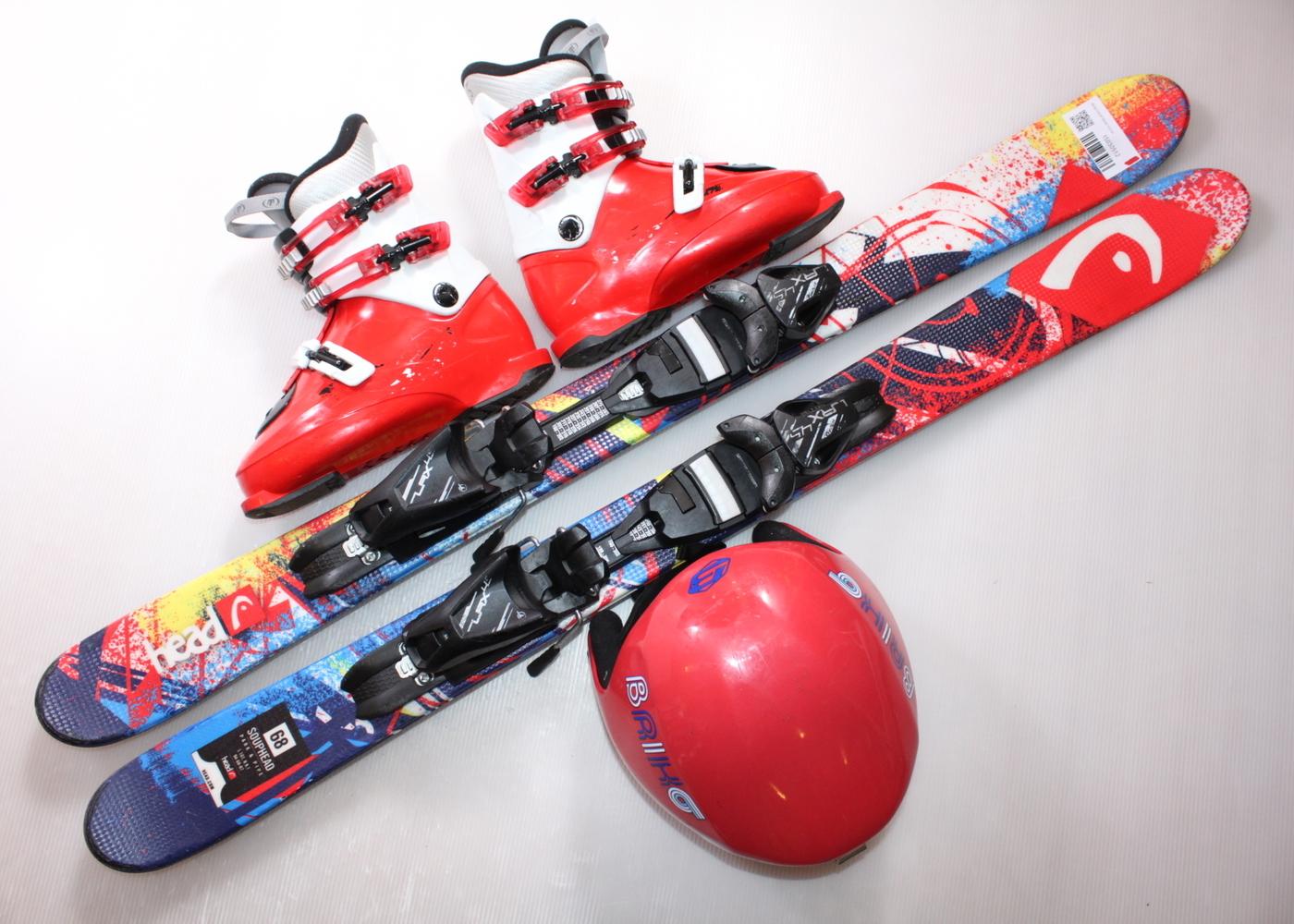 Dětské lyže HEAD SOUP HEAD 107 cm + lyžáky  36EU + helma
