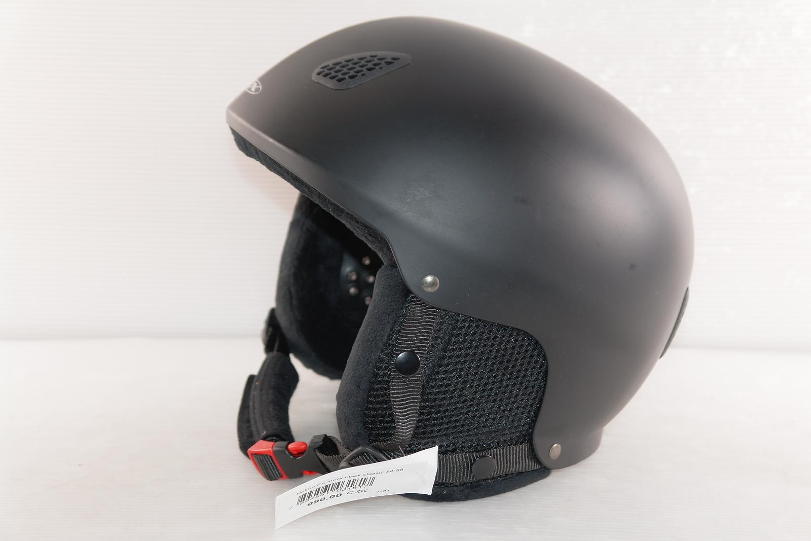 Lyžařská helma FX Sport Black Classic - posuvná vel. 54 - 58