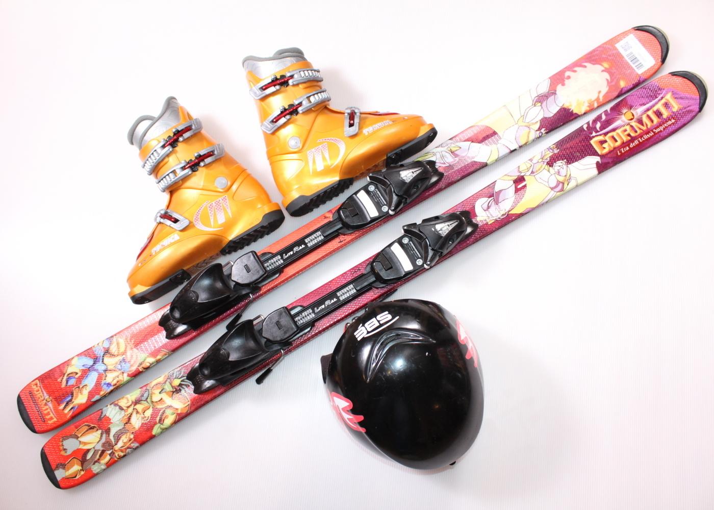 Dětské lyže HEAD GORMITI 127 cm + lyžáky  38EU + helma