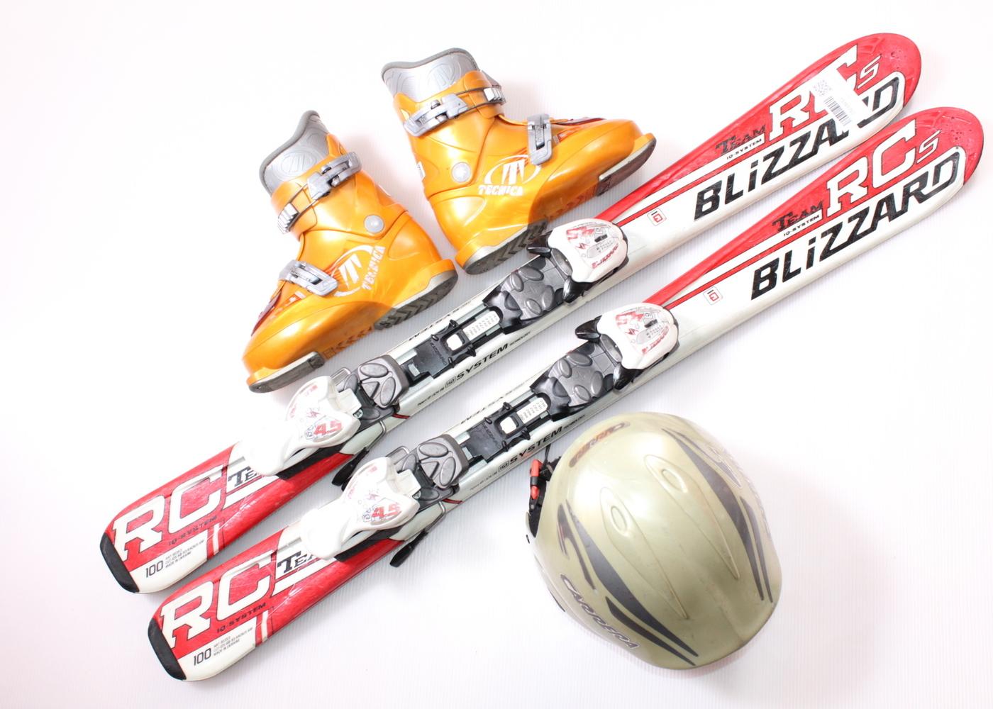 Dětské lyže BLIZZARD RCS TEAM 100 cm + lyžáky  31EU + helma