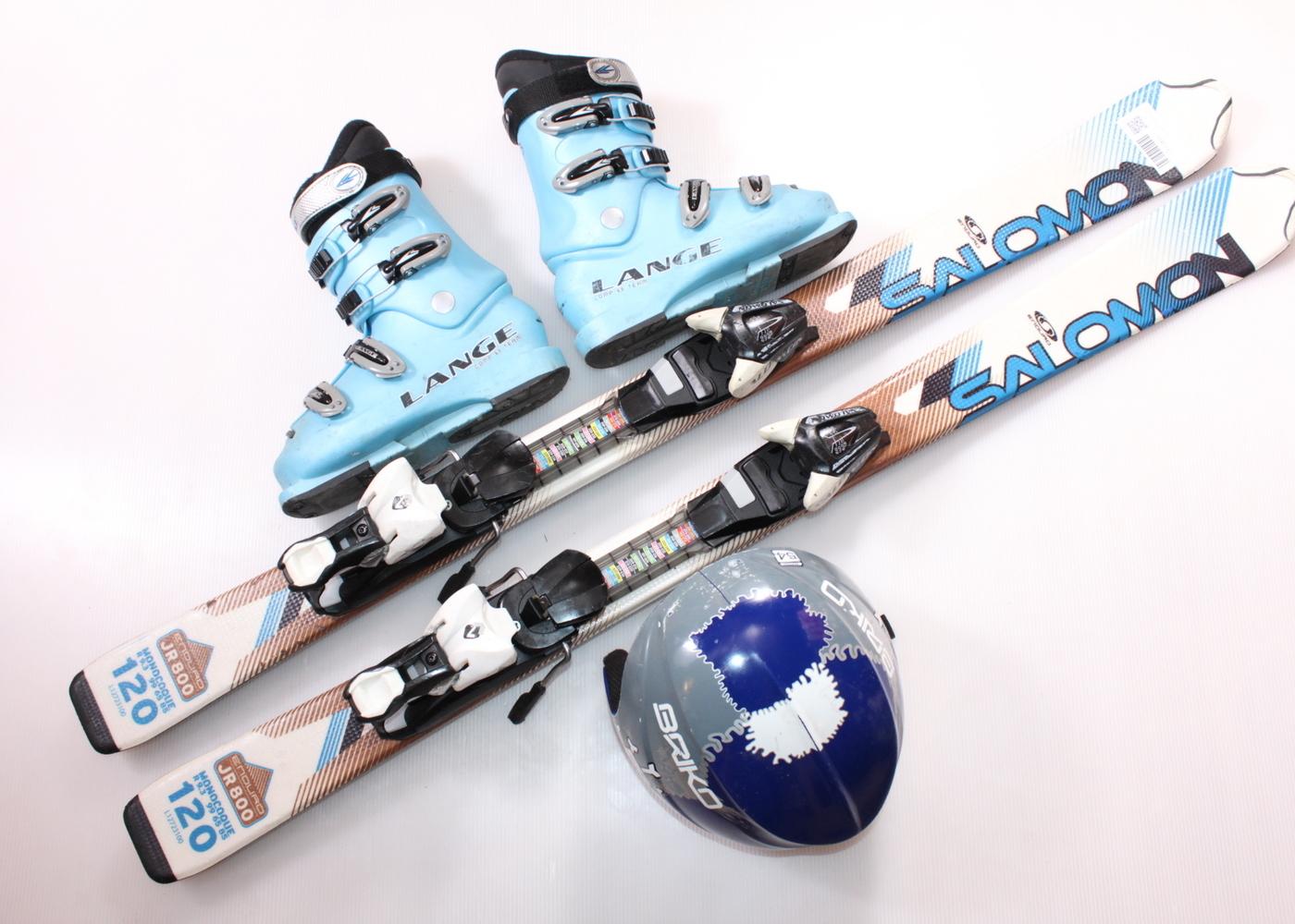 Dětské lyže SALOMON ENDURO 800 JR 120 cm + lyžáky  36.5EU + helma