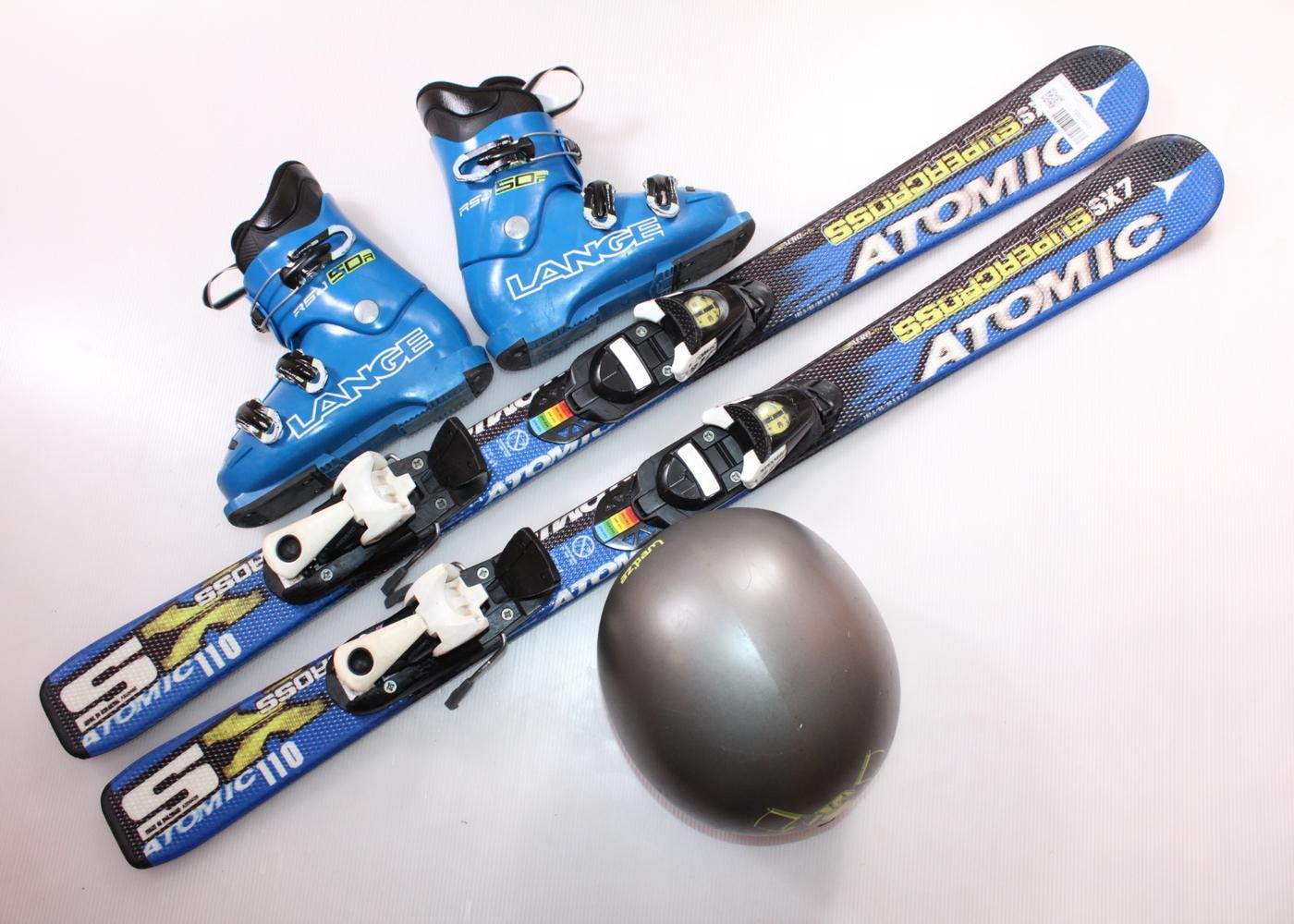 Dětské lyže ATOMIC SX 7 110 cm + lyžáky  32EU + helma