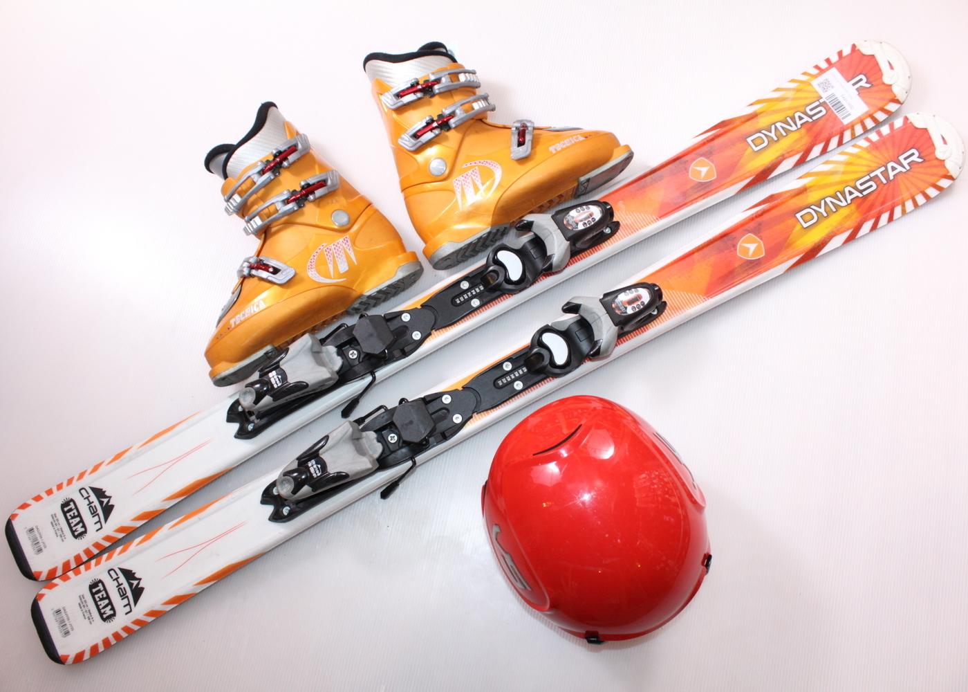 Dětské lyže DYNASTAR CHAM TEAM 120 cm + lyžáky  36EU + helma