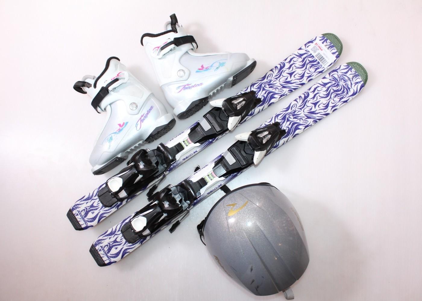 Dětské lyže ATOMIC ANIMAL FUN 80 cm + lyžáky  29EU + helma