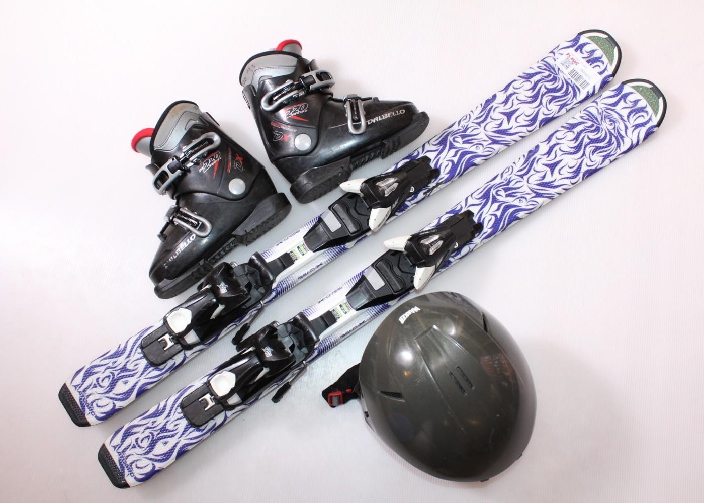 Dětské lyže ATOMIC ANIMAL FUN 100 cm + lyžáky  30EU + helma