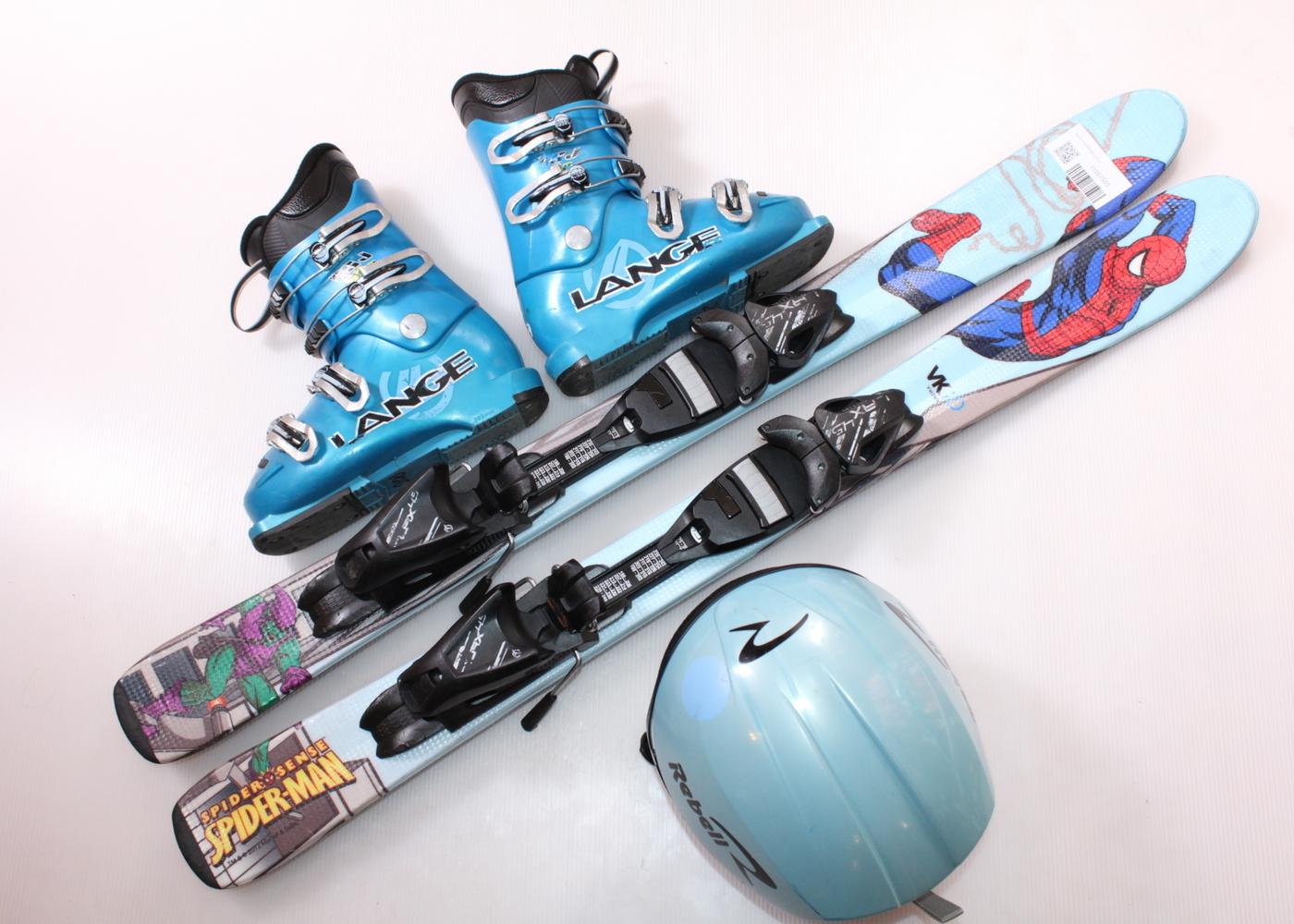 Dětské lyže HEAD SPIDER-MAN 97 cm + lyžáky  31EU + helma