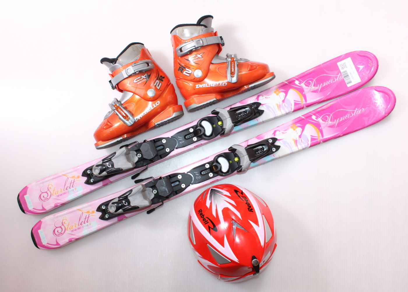Dětské lyže DYNASTAR STARLETT 100 cm + lyžáky  31EU + helma
