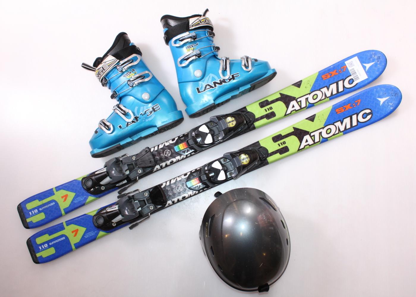Dětské lyže ATOMIC SX 7 110 cm + lyžáky  35EU + helma