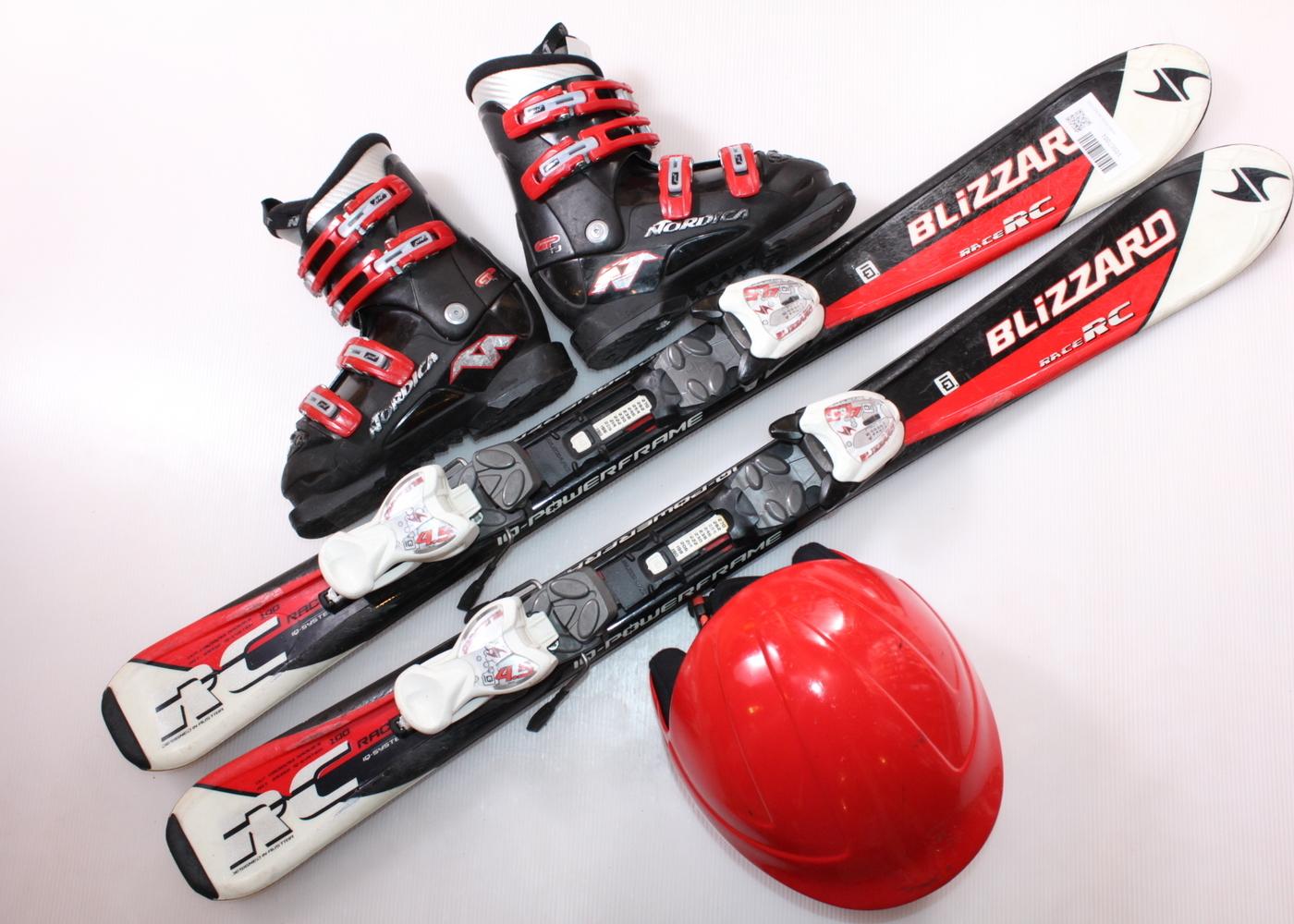 Dětské lyže BLIZZARD RC RACE 100 cm + lyžáky  30.5EU + helma