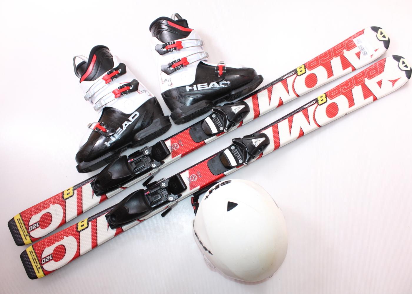 Dětské lyže ATOMIC RACE 8 120 cm + lyžáky  36.5EU + helma