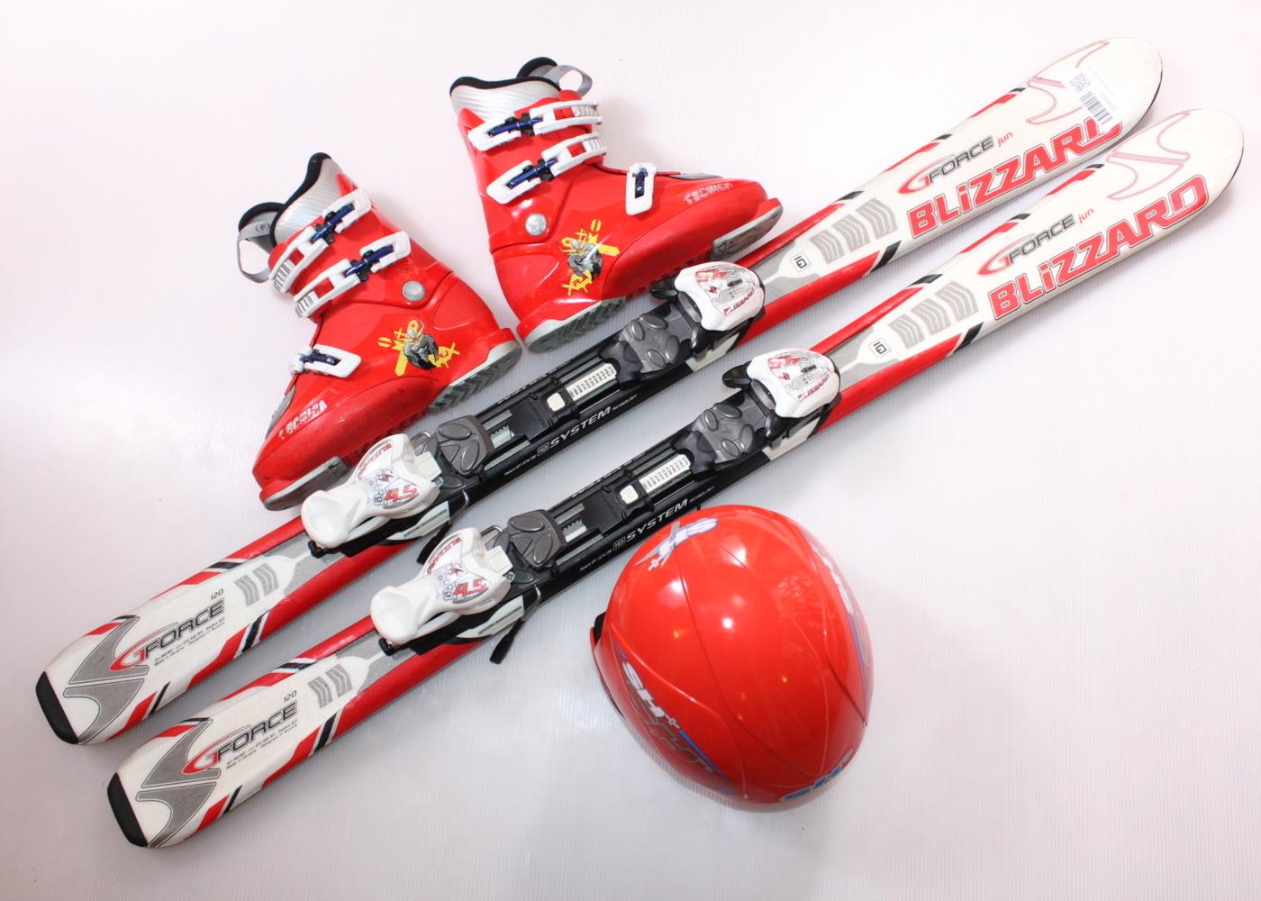 Dětské lyže BLIZZARD G FORCE JUN 120 cm + lyžáky  36EU + helma