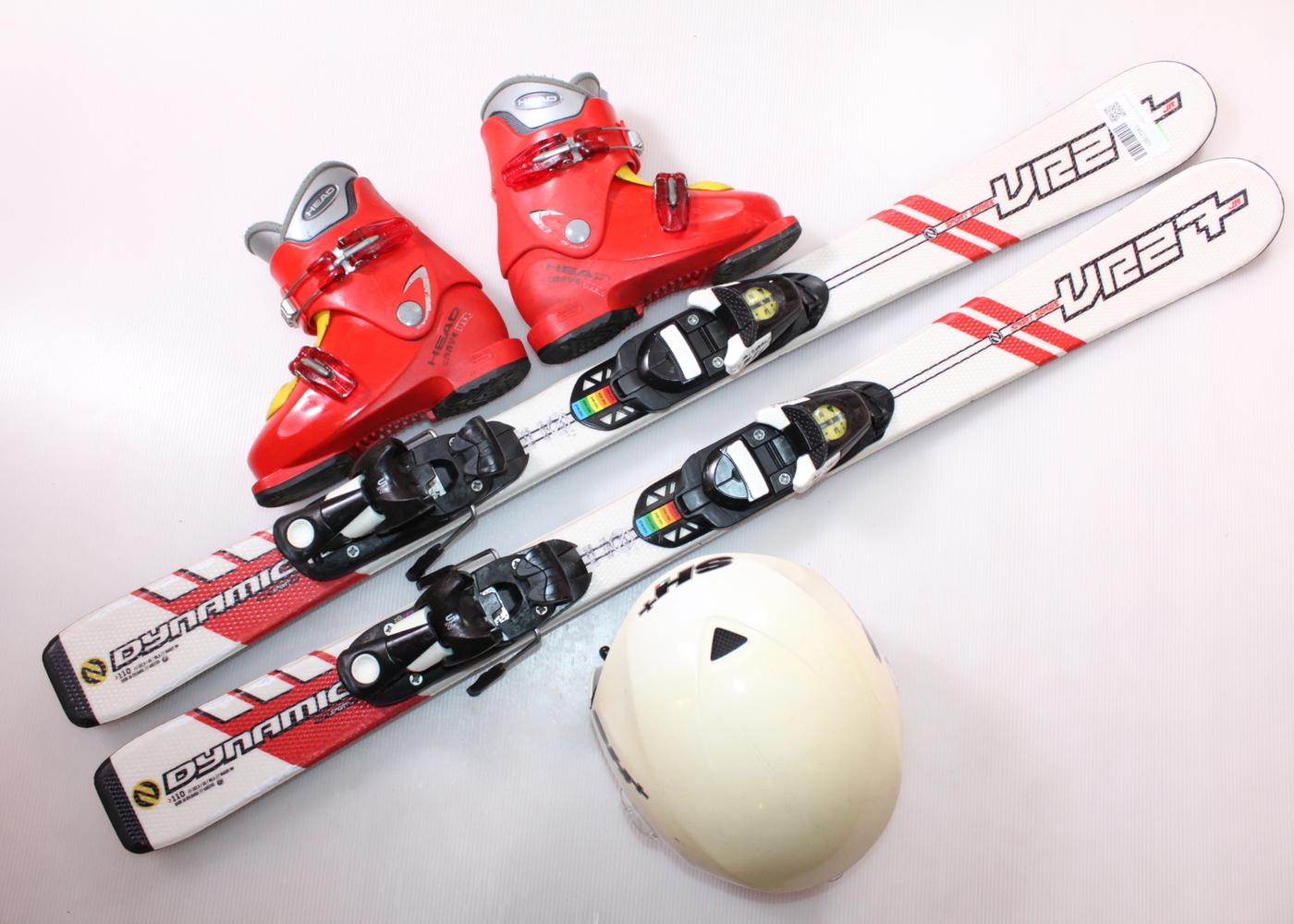 Dětské lyže DYNASTAR VR 27 110 cm + lyžáky  32EU + helma