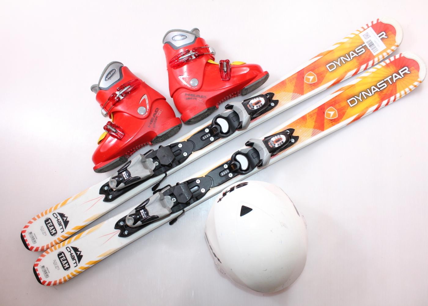 Dětské lyže DYNASTAR CHAM TEAM 110 cm + lyžáky  32EU + helma