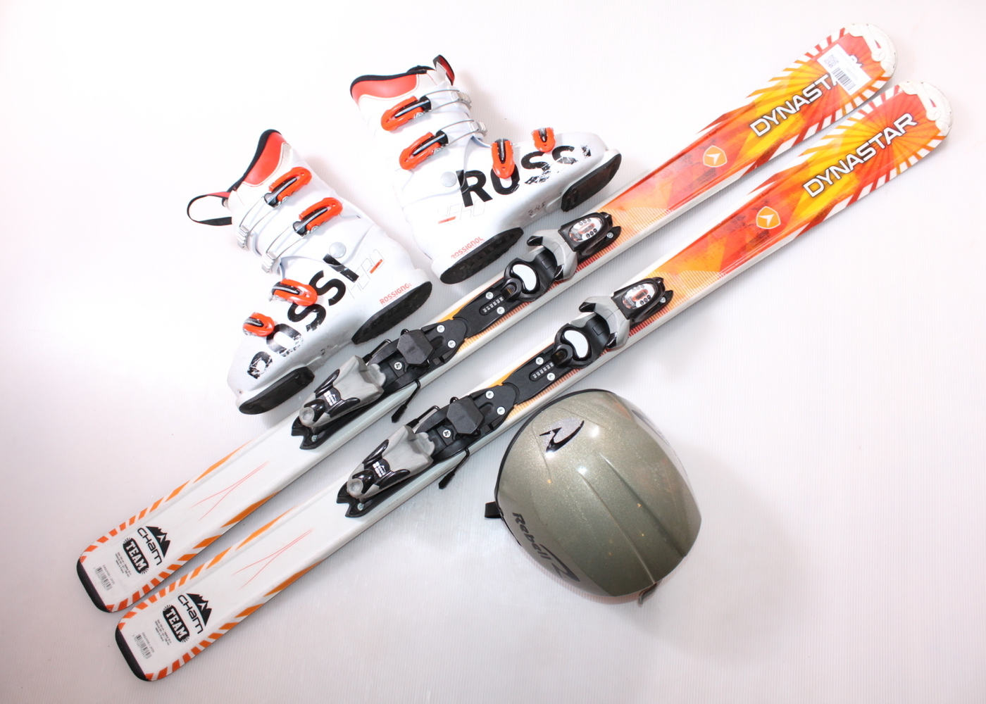 Dětské lyže DYNASTAR CHAM TEAM 130 cm + lyžáky  38EU + helma