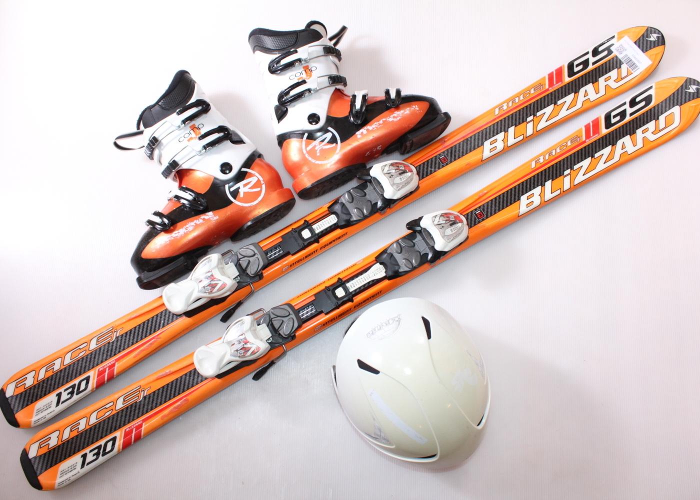 Dětské lyže BLIZZARD GSRT RACE 130 cm + lyžáky  38.5EU + helma