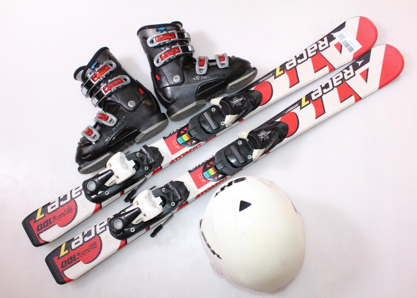 Dětské lyže ATOMIC RACE 7 100 cm + lyžáky  31EU + helma