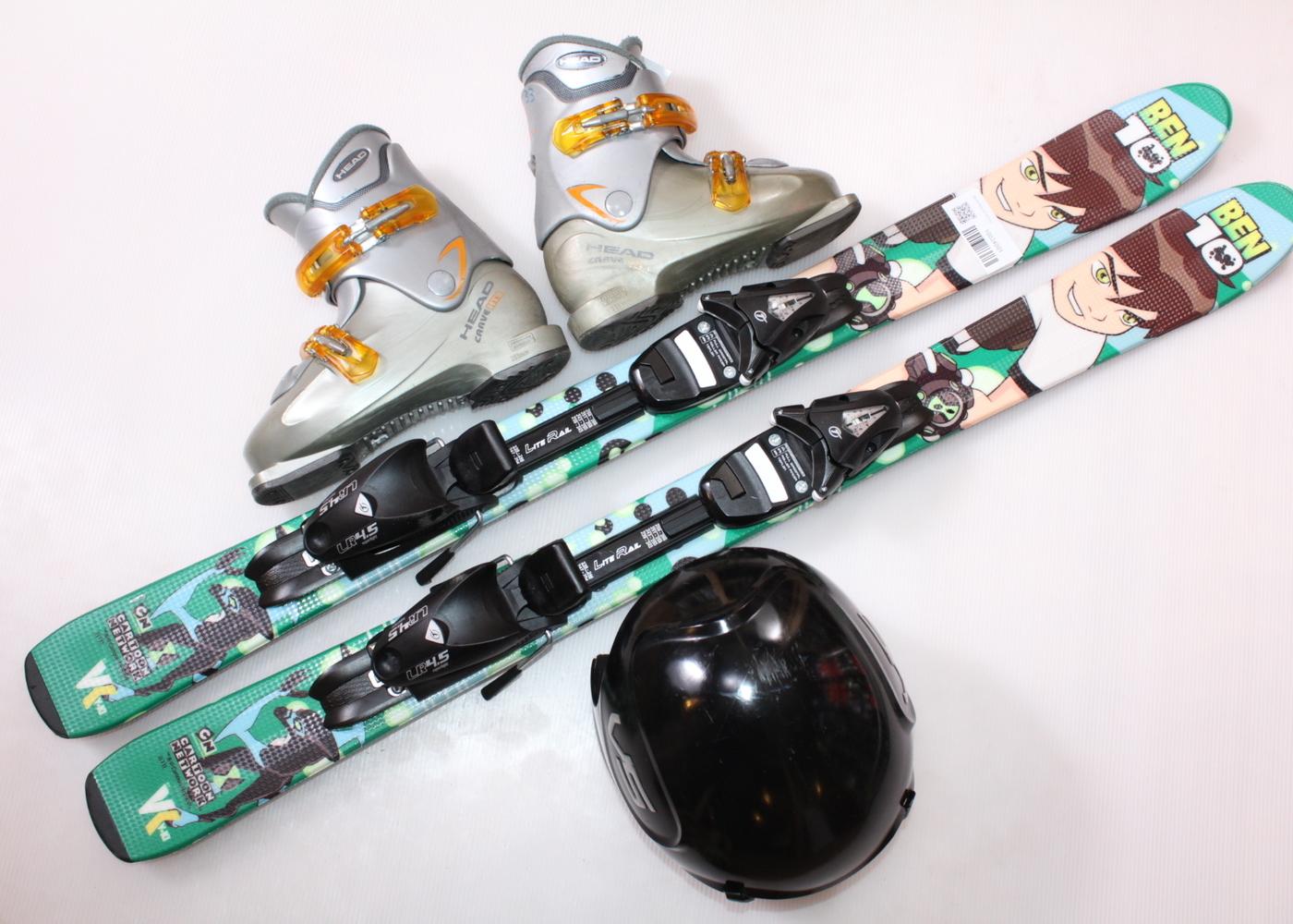 Dětské lyže HEAD BEN 10 107 cm + lyžáky  34EU + helma