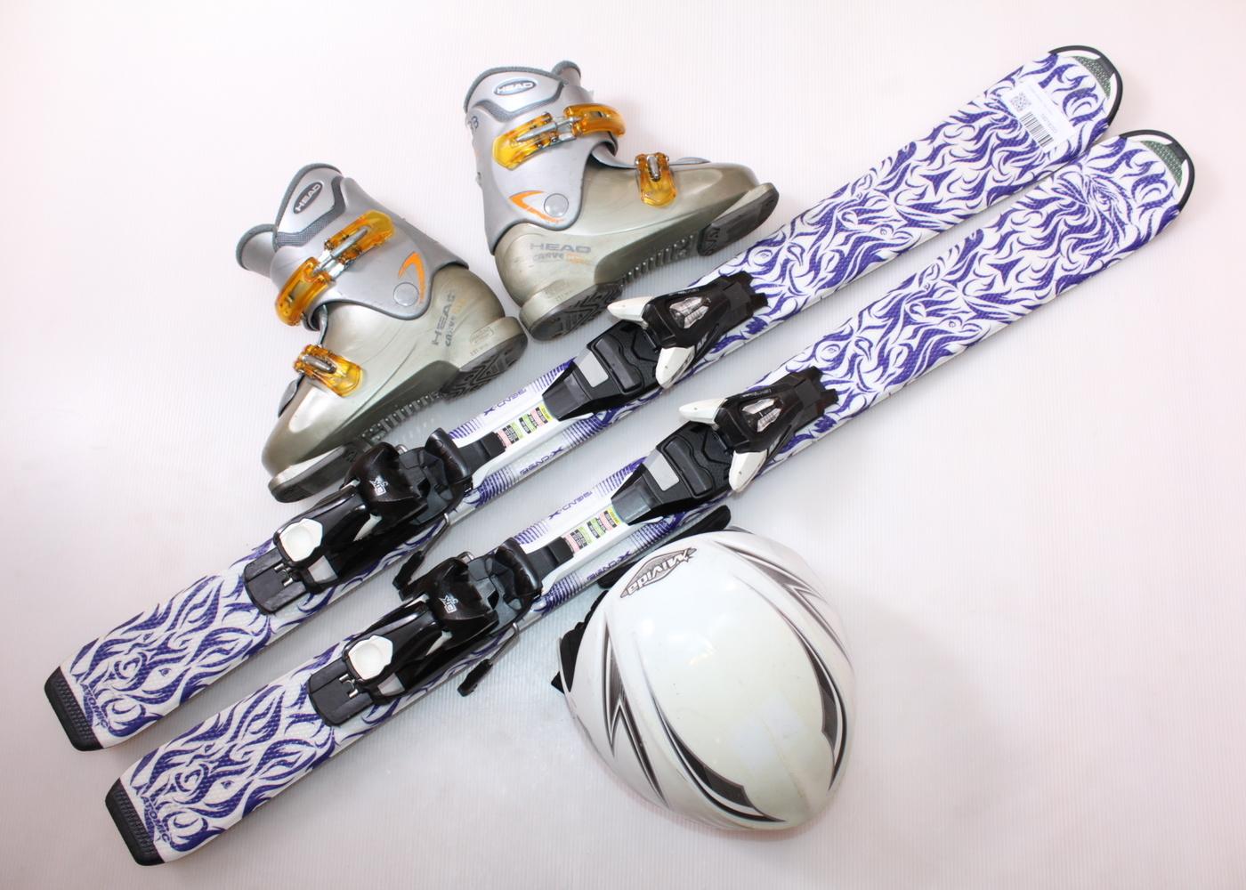 Dětské lyže ATOMIC ANIMAL FUN 110 cm + lyžáky  34EU + helma