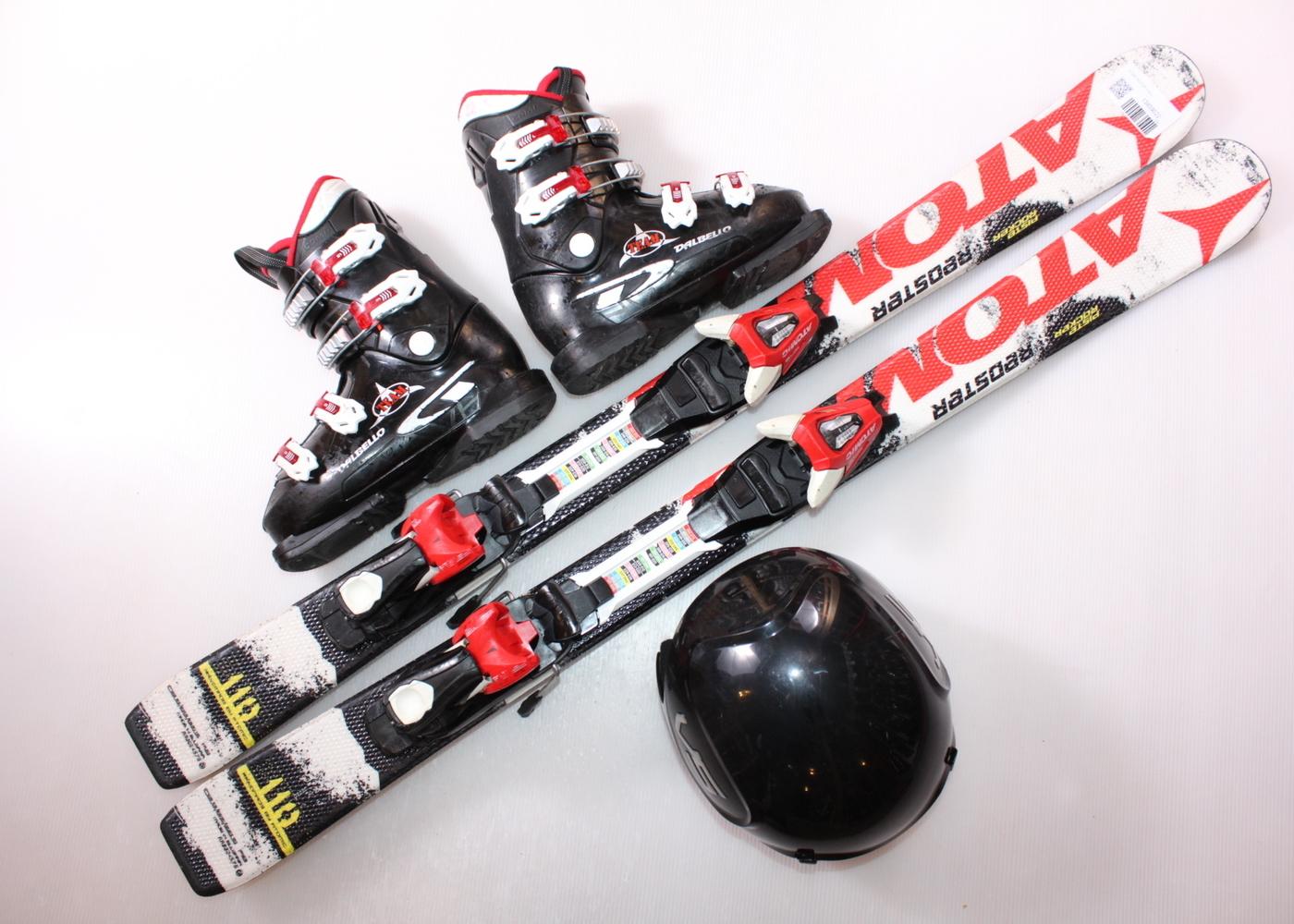 Dětské lyže ATOMIC REDSTER 110 cm + lyžáky  36EU + helma
