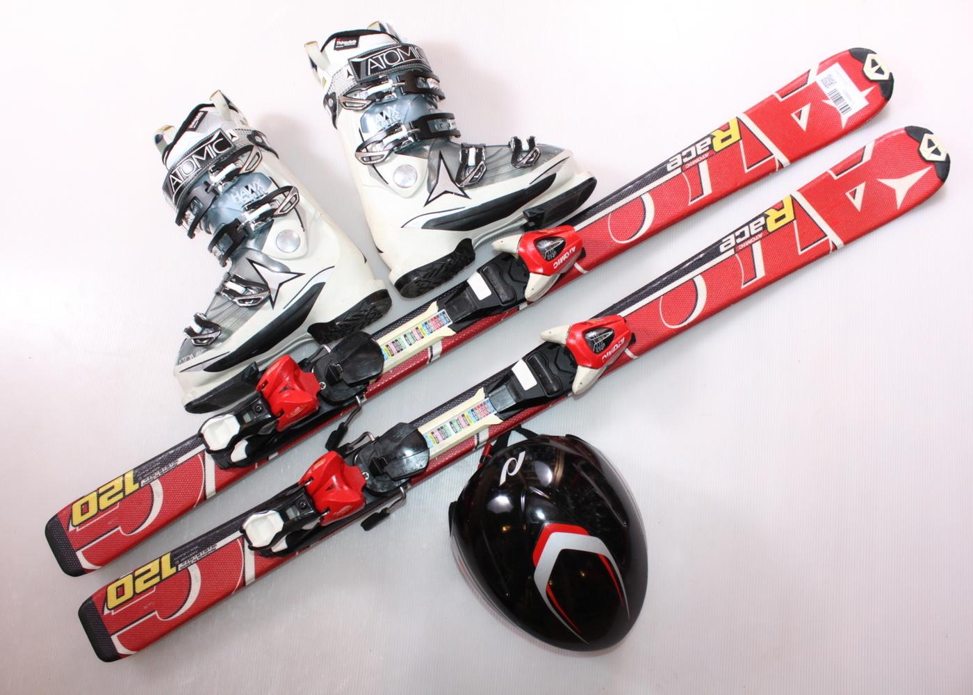 Dětské lyže ATOMIC RACE 120 cm + lyžáky  37EU + helma