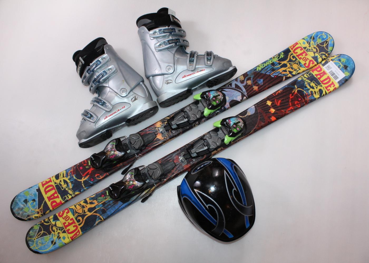 Dětské lyže NORDICA ACE OF SPADES J 118 cm + lyžáky  36.5EU + helma