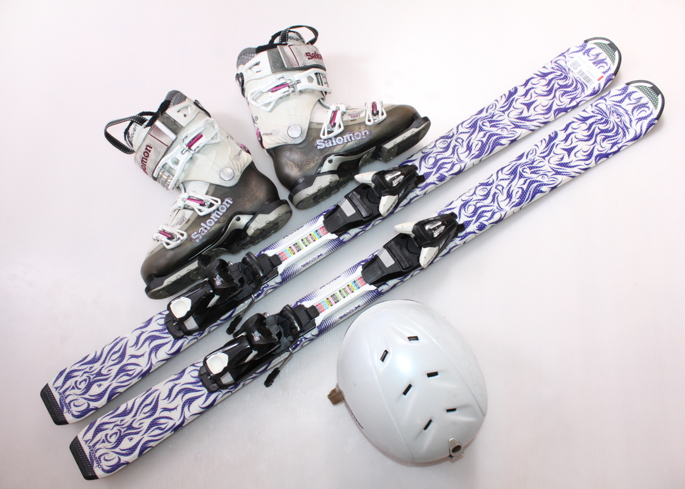 Dětské lyže ATOMIC ANIMAL FUN 120 cm + lyžáky  37EU + helma