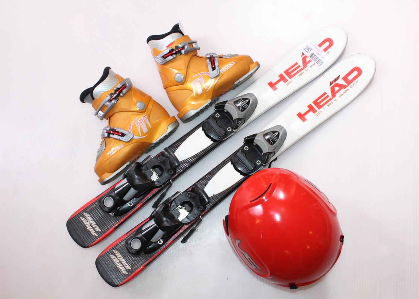 Dětské lyže HEAD Supershape Team 77 cm + lyžáky  28EU + helma