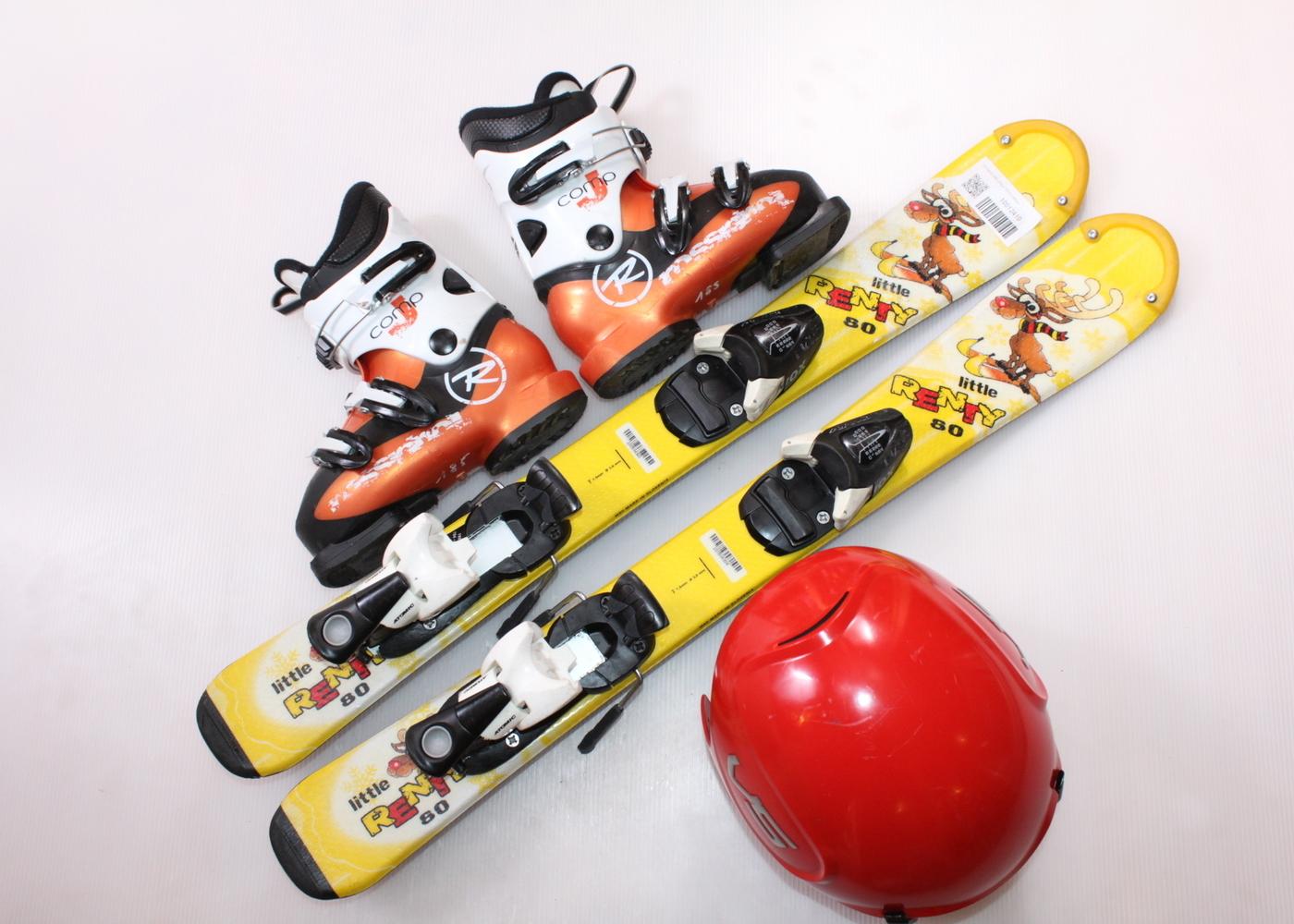 Dětské lyže DYNASTAR LITTLE RENTY 80 cm + lyžáky  29EU + helma