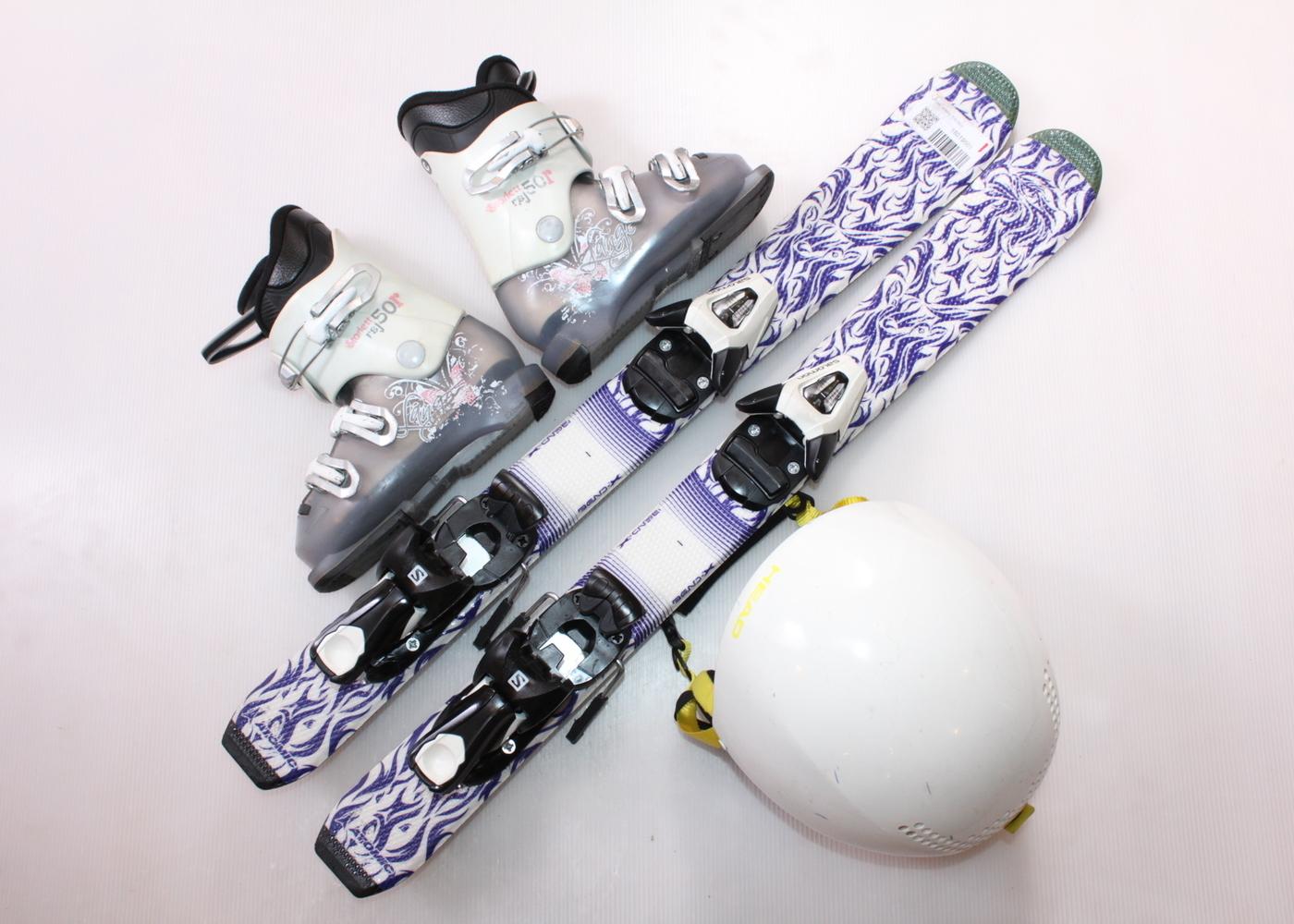 Dětské lyže ATOMIC ANIMAL FUN 80 cm + lyžáky  28.5EU + helma