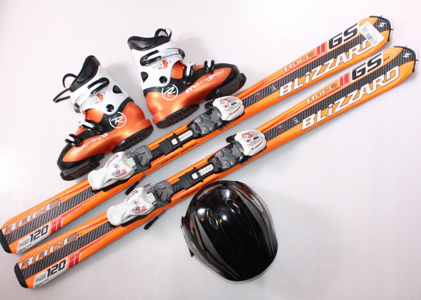 Dětské lyže BLIZZARD GS RACING 120 cm + lyžáky  36EU + helma