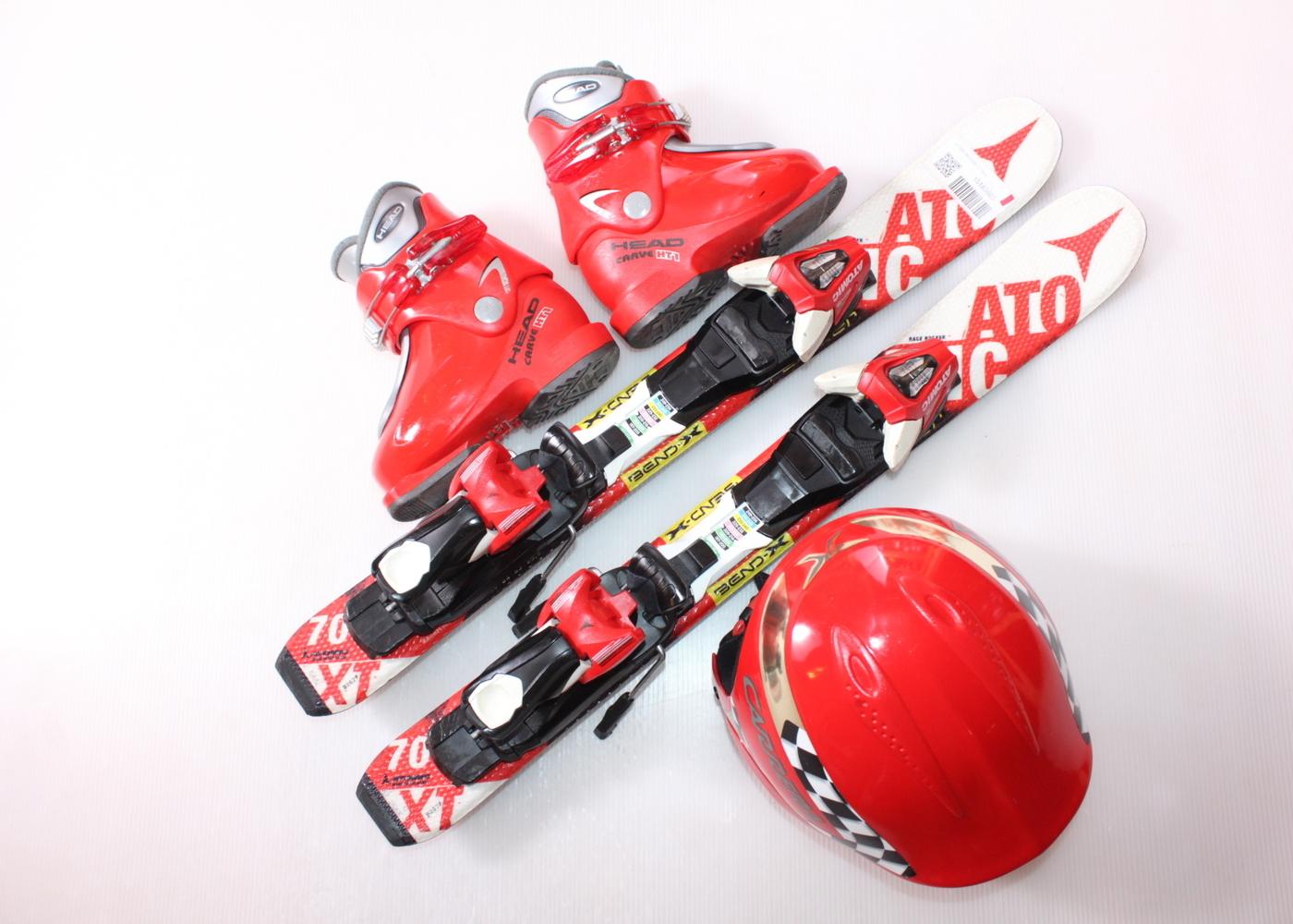 Dětské lyže ATOMIC REDSTER XT 70 cm + lyžáky  25EU + helma