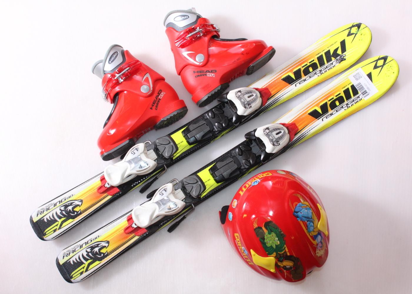 Dětské lyže VOLKL RACETIGER SL 90 cm + lyžáky  29EU + helma