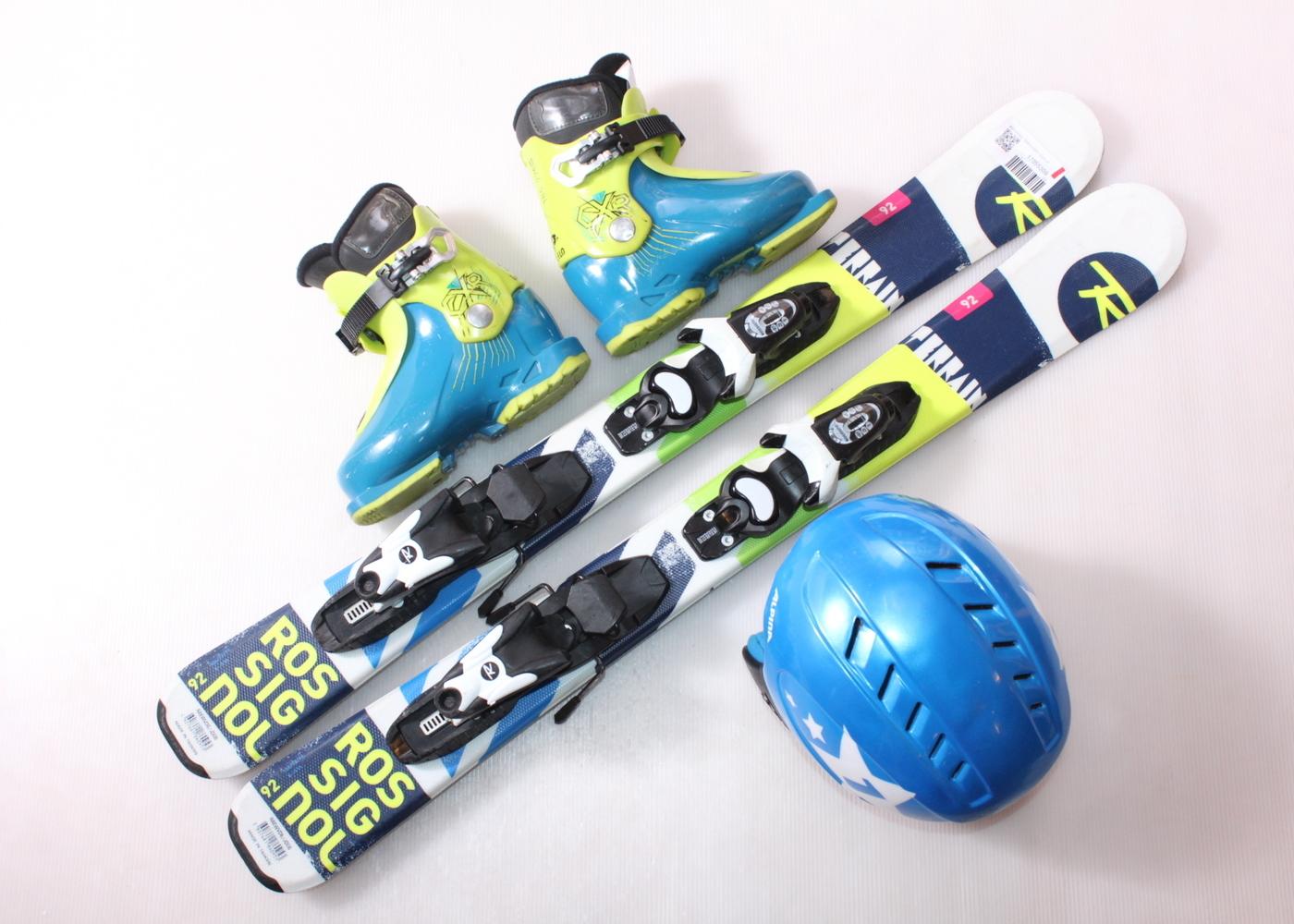 Dětské lyže ROSSIGNOL TERRAIN BOY 92 cm + lyžáky  29EU + helma