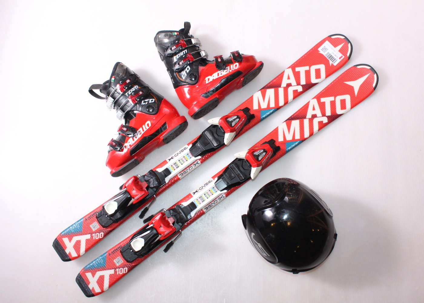 Dětské lyže ATOMIC REDSTER XT 100 cm + lyžáky  31EU + helma