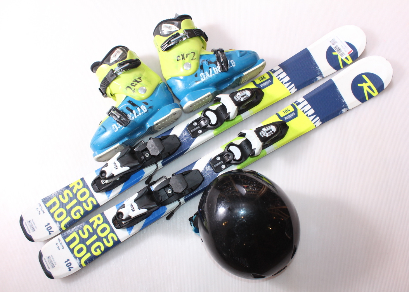 Dětské lyže ROSSIGNOL TERRAIN BOY 104 cm + lyžáky  33EU + helma