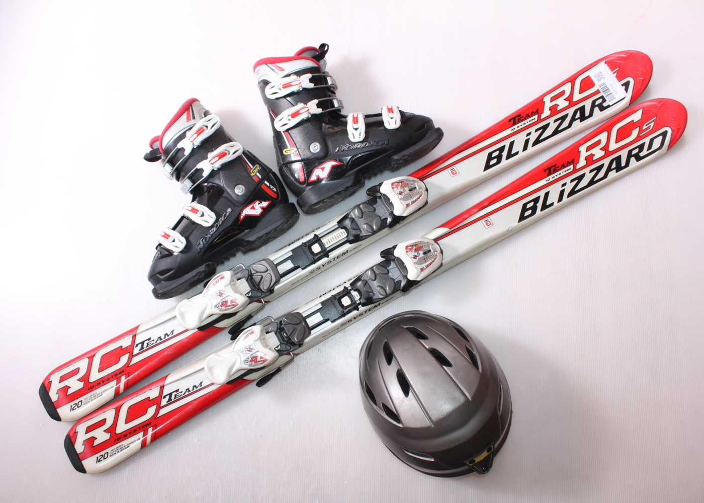 Dětské lyže BLIZZARD RCS TEAM 120 cm + lyžáky  36.5EU + helma