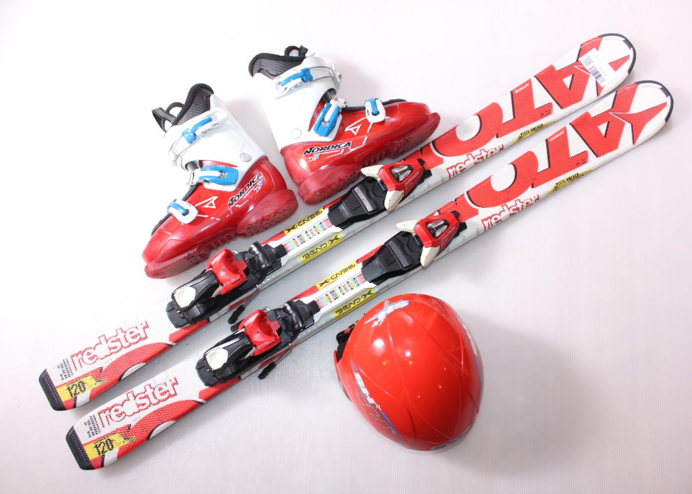 Dětské lyže ATOMIC REDSTER 120 cm + lyžáky  37EU + helma