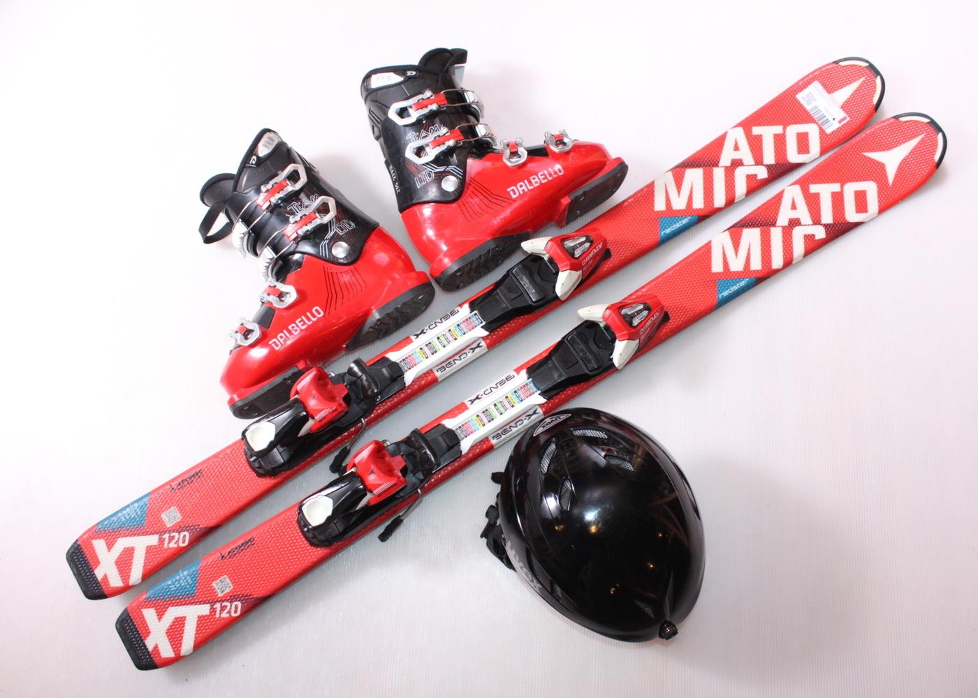 Dětské lyže ATOMIC REDSTER XT 120 cm + lyžáky  37EU + helma