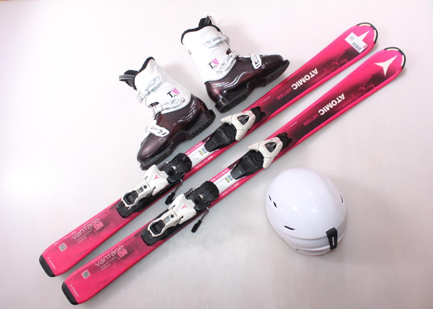 Dětské lyže ATOMIC VANTAGE JR 130 cm + lyžáky  36.5EU + helma
