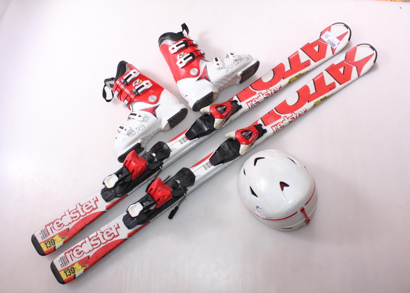 Dětské lyže ATOMIC REDSTER 130 cm + lyžáky  38EU + helma